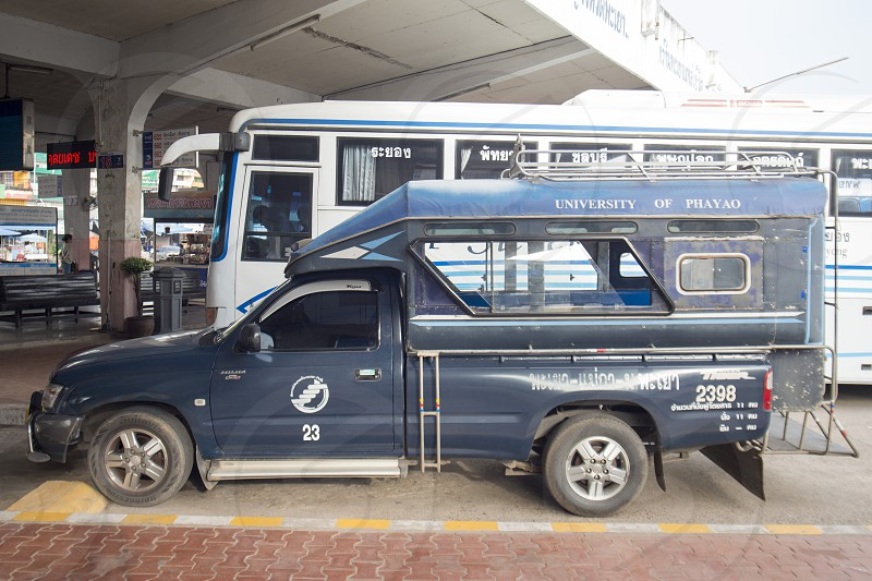 a public pickup oder at the Bus Terminal in the city of Phayao in North Thailand. photo