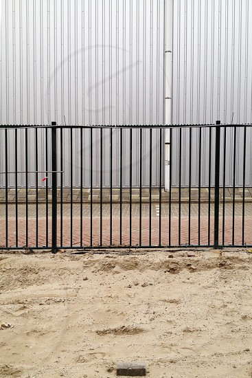 landscape fence road photo