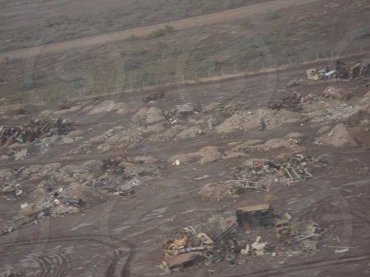 aerial view of gray soil photo