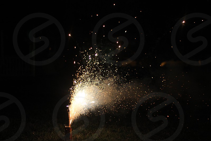 fireworks display during nighttime photo