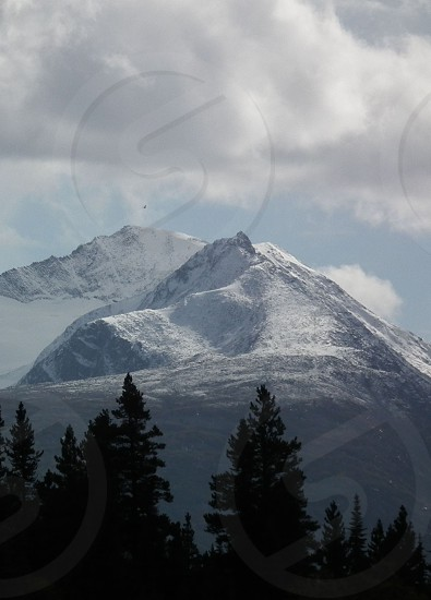 snowcapped mountain photo
