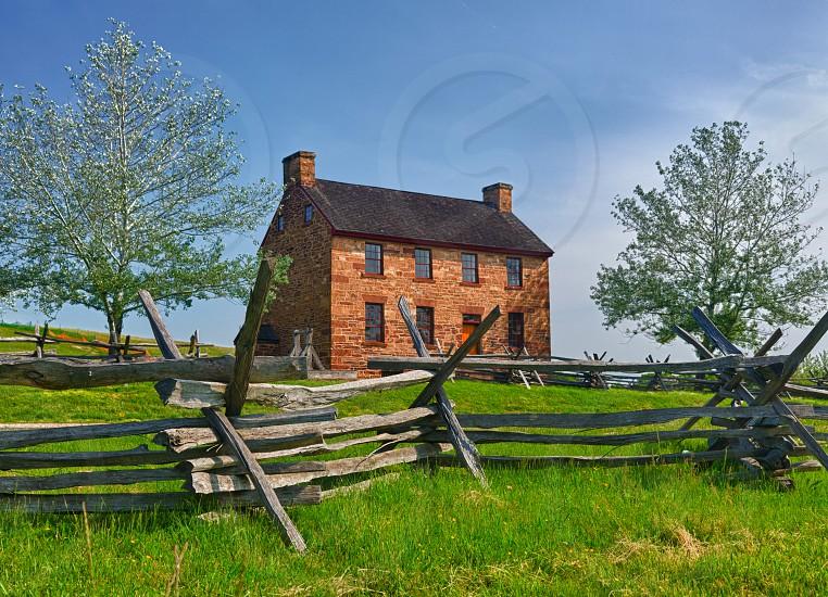 Manassas Civil War battlefield near Manassas in Virginia photo