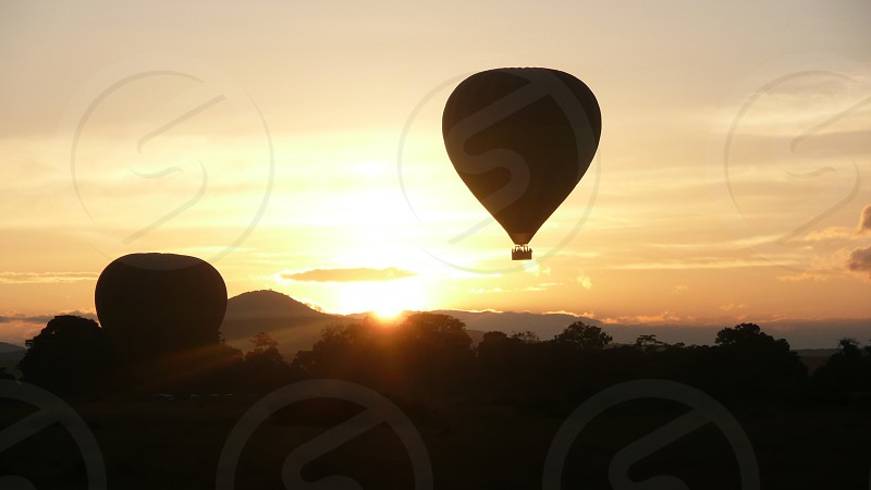 Hot air balloon in Africa photo