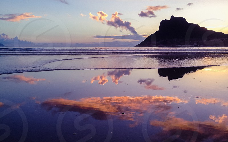 Sunset Cloud Mirror photo
