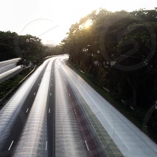 gray road view photo