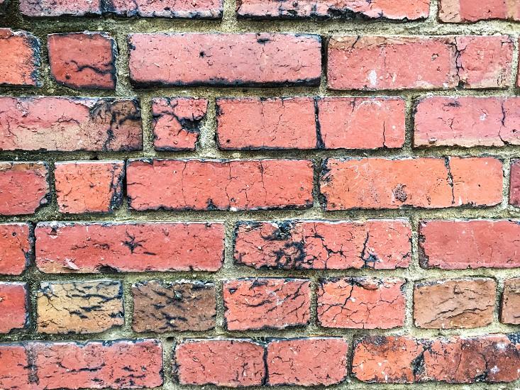 Our patio wall. Brick walls textures red brick urban photo