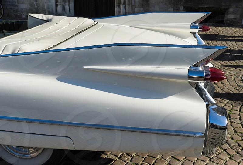 Cadillac Wedding Car in Market Square Bruge photo