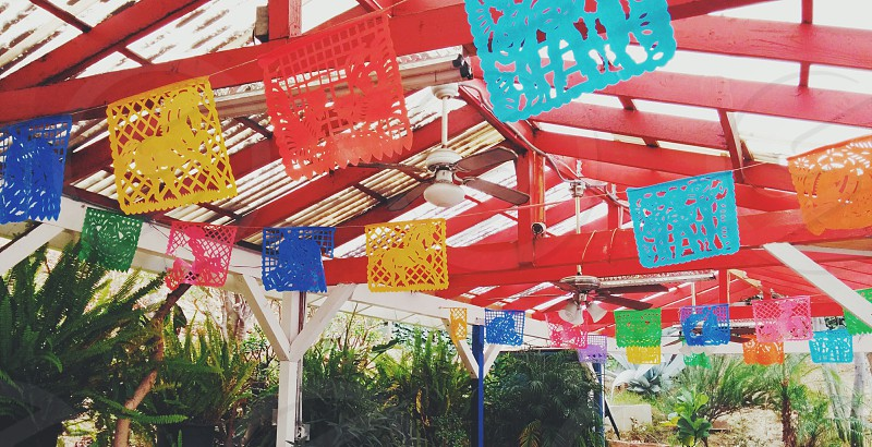 Mexican party decorations outdoors photo