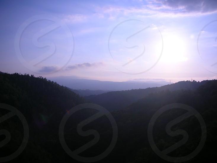 mountain aerial view photo