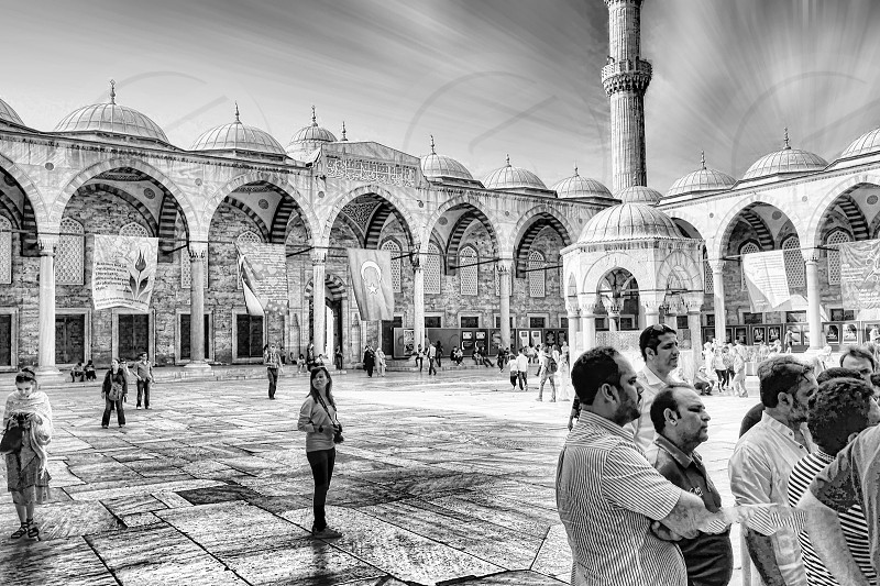 Blue mosque Istanbul Turkey. photo