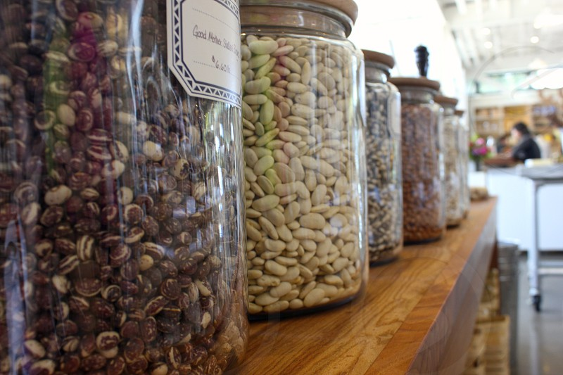 jars of dried beans photo