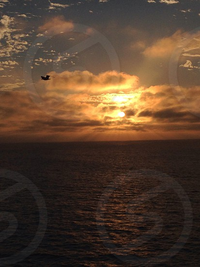 Sunrise over the Pacific Ocean  photo