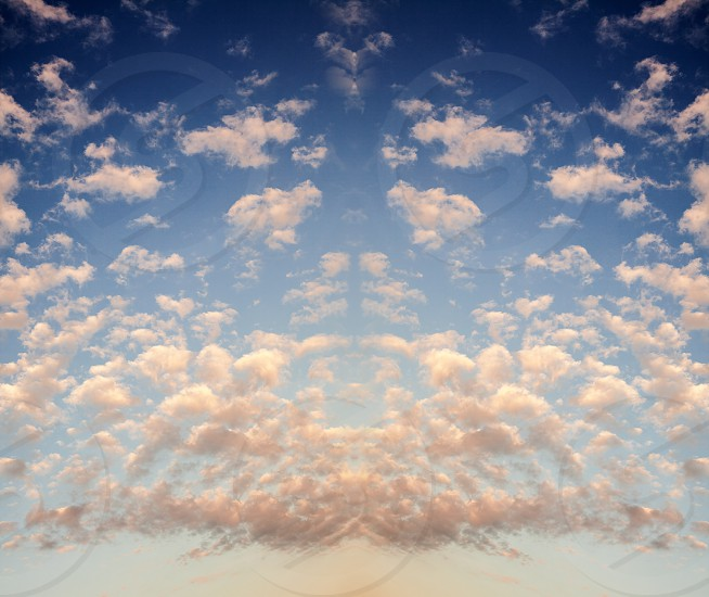 Just a clouds pattern abstract composition.  photo