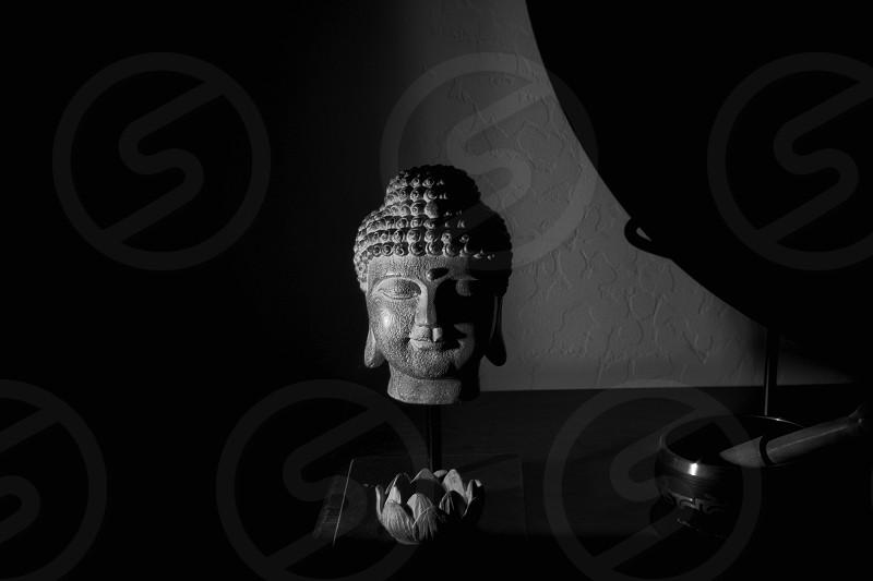 Black and white Fine Art Title:Meditation photo