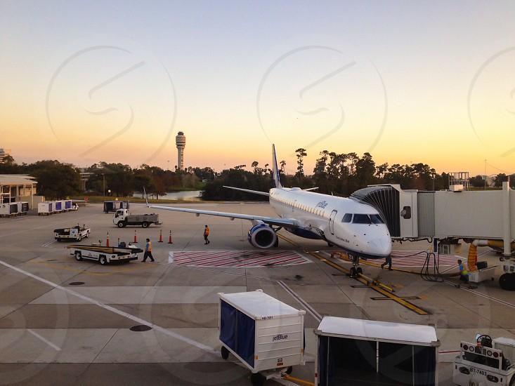 Preparing for flight. Orlando International Airport Florida.  photo