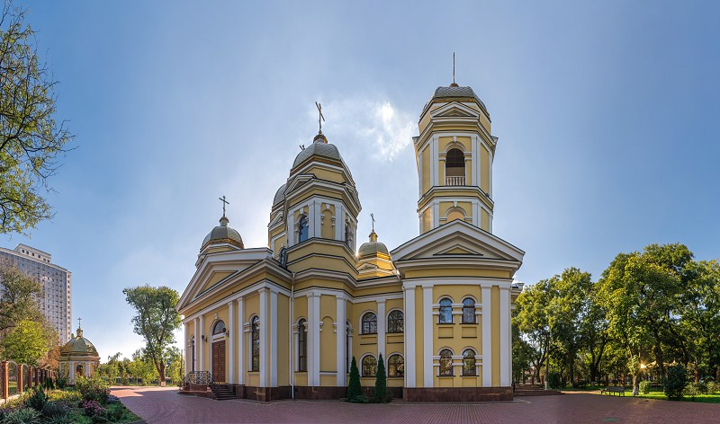 Odessa Ukraine - 10.03.2018. Church of St. Alexis in Odessa located in the central part of the city photo