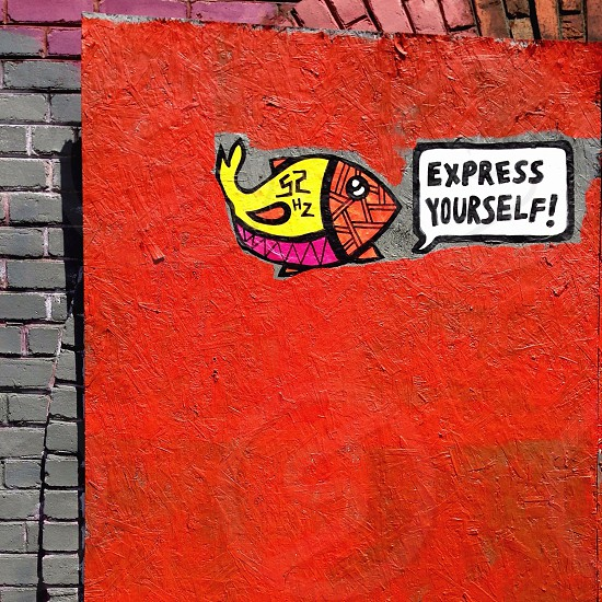 red fish express yourself painting photo