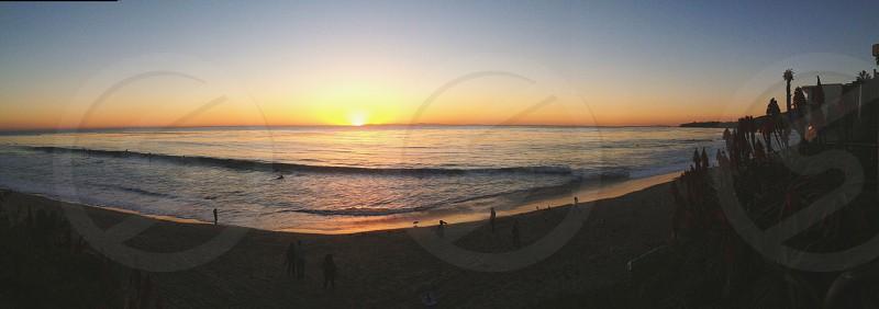 Laguna beach at sunset photo