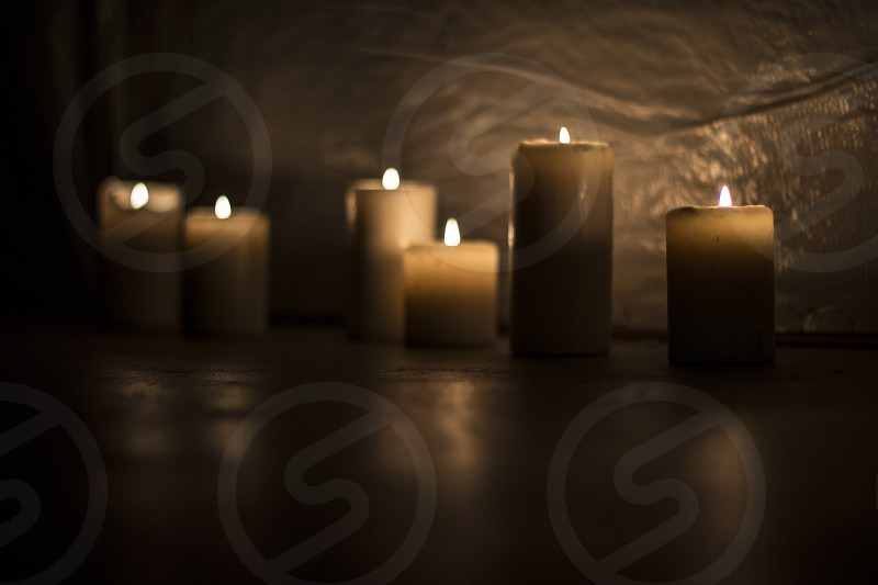 Meditating Candles  photo