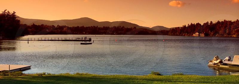Mirror Lake Lake Placid NY. photo
