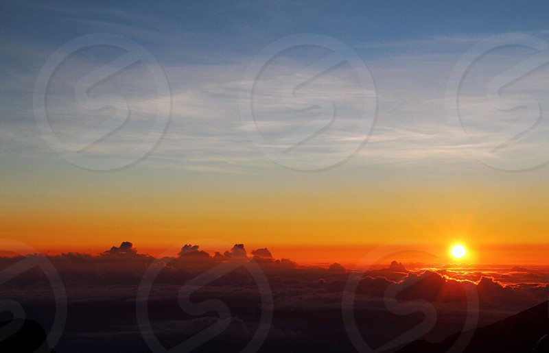 Haleakala sunrise Hawaii Maui morning America photo