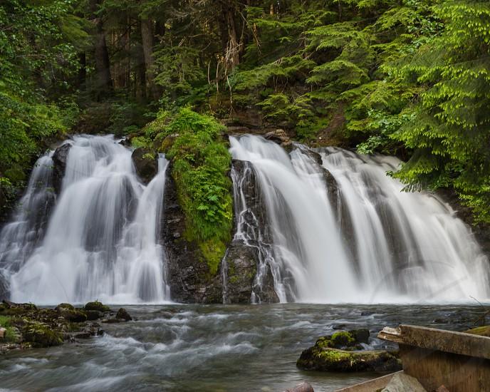 Waterfalls - Chilkot Falls Juneau Alaska photo