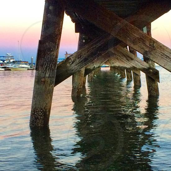 Seattle Washington pnw sunset pier waterfront shoreline photo