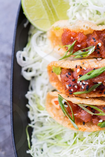 Spicy tuna tacos at Matchbox 14th St DC photo