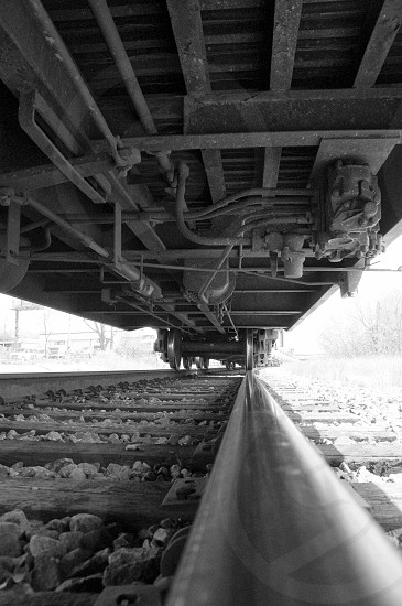 Urban Train Black and White Fine Art Photography photo