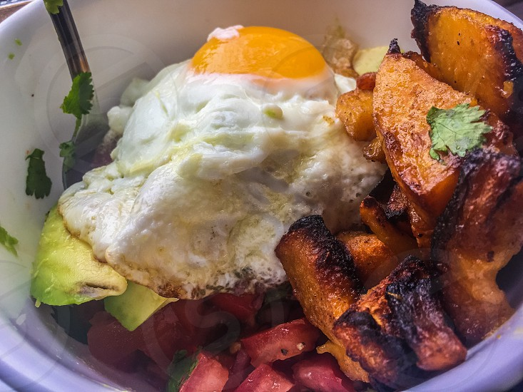 Yummy healthy egg breakfast  photo
