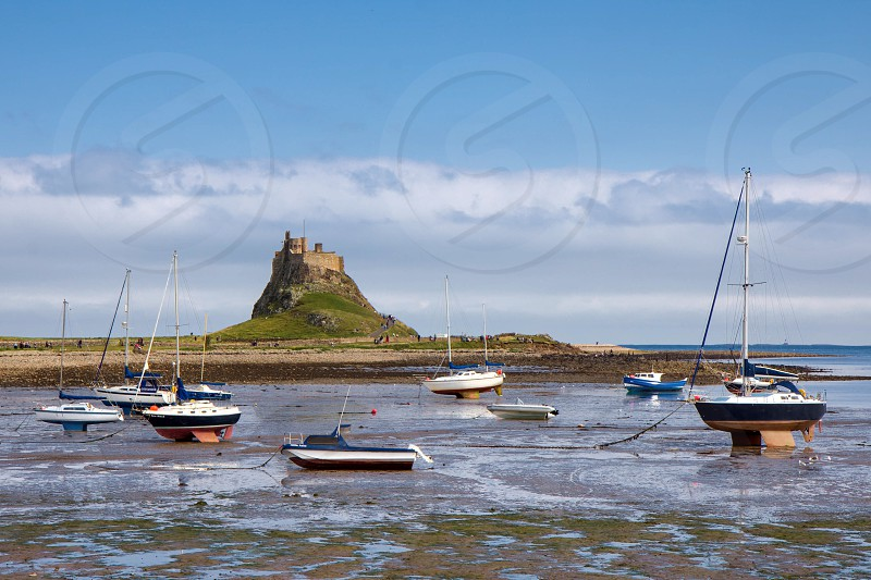 View of Holy Isalnd Lindisfarne photo