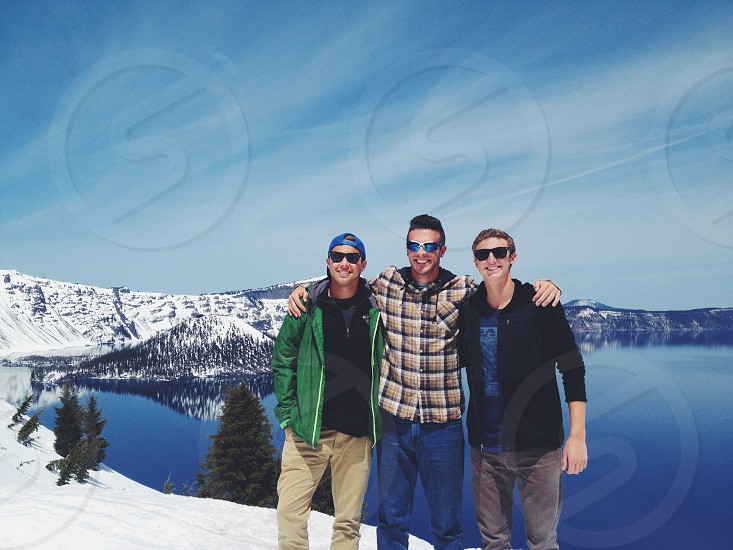 Crater Lake with the boys.  photo