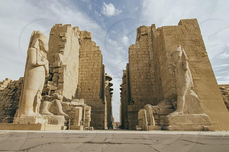 LUXOR EGYPT - December 9th: Karnak Temple Egypt on December 9th 2016 in LUXOR EGYPT photo
