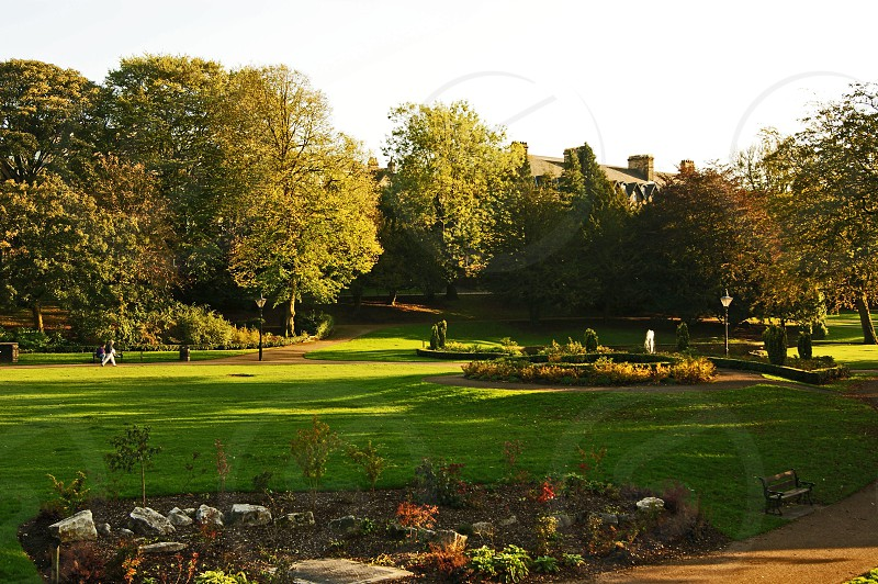UK. ENGLAND. BUXTON. Derbyshire. The Pavilion Gardens in the centre of the town. photo