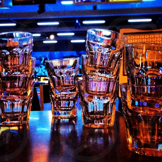 Shot glasses with strobe lights.  photo