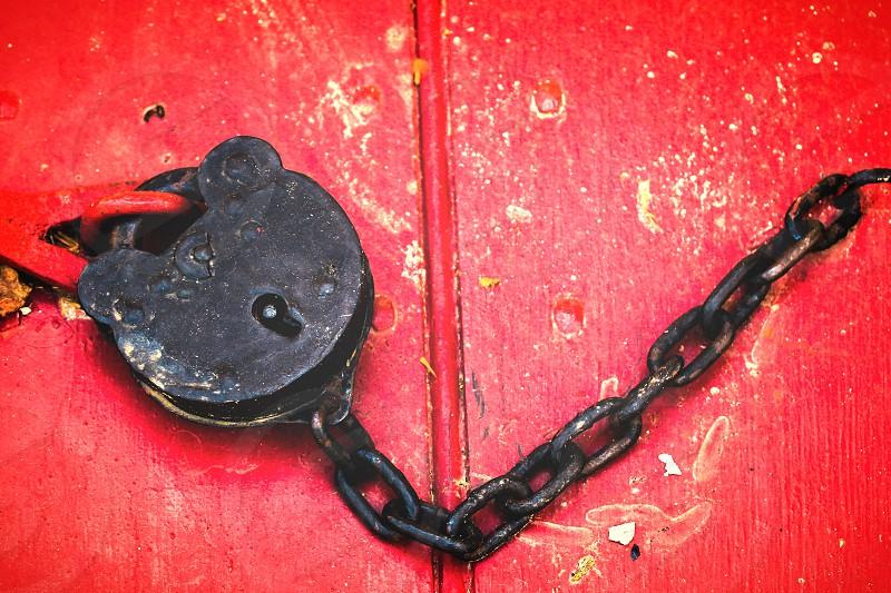 An old lock in Colonial Williamsburg Virginia photo