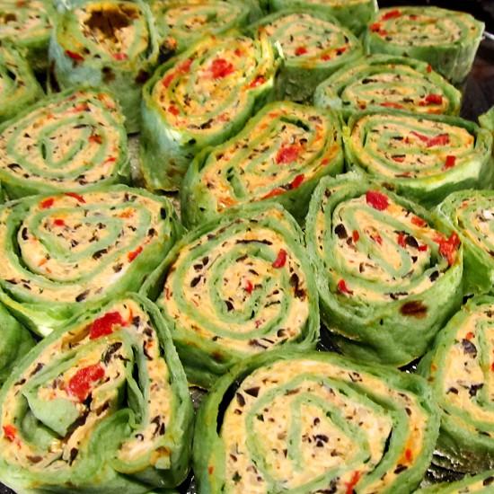 Spinach tortilla wraps photo