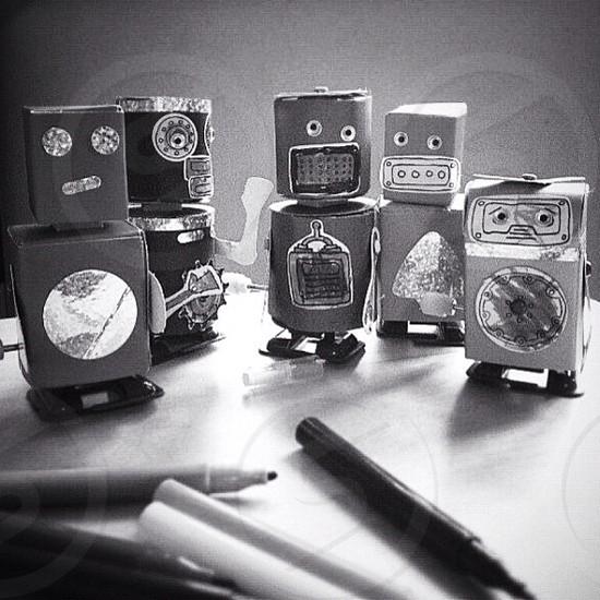 Handmade Paper Robots photo