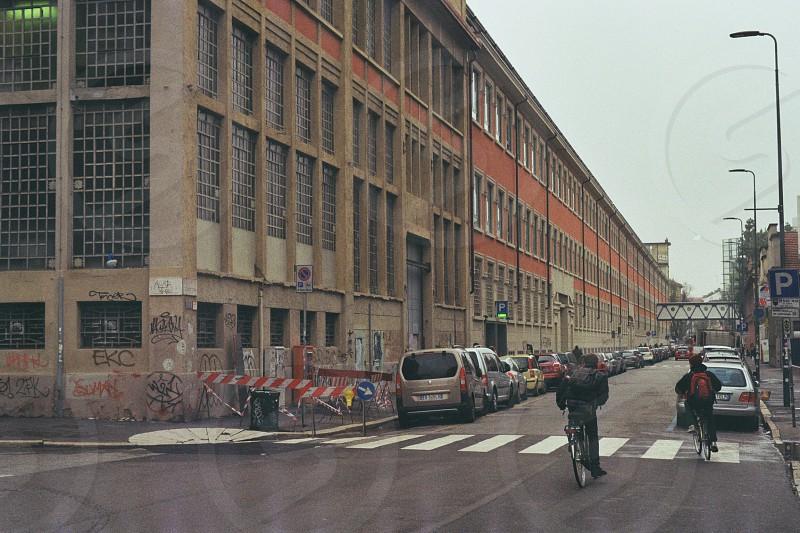 Industrial building milan italy photo