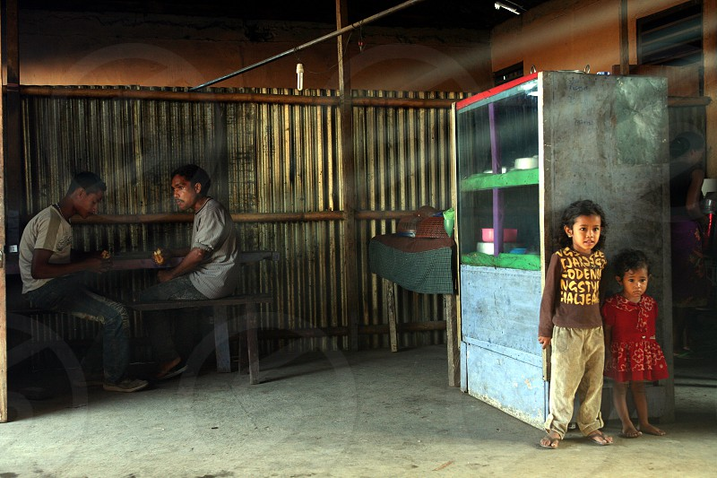 a restaurant in the village of Lospalos in the south of East Timor in southeastasia. photo