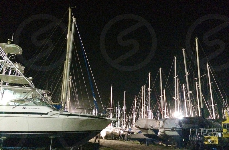 Port of Spain Trinidad. Sail boats galore photo