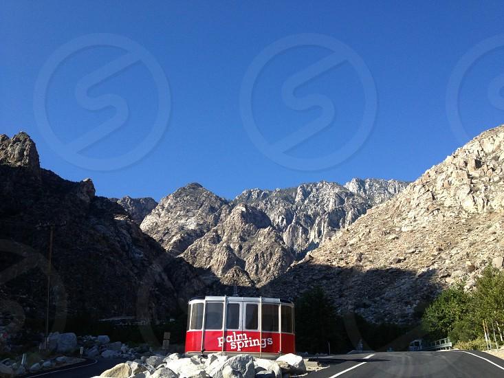 view of gray stone mountain photo