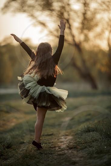 Little dancer at sunset photo