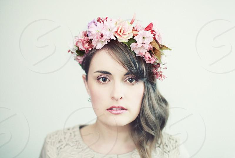 flowers portraiture woman female hair fashion beauty portrait photo