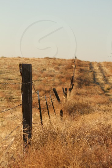 Fencing rustic ranch farm livestock country mountains Idaho cowboy  photo