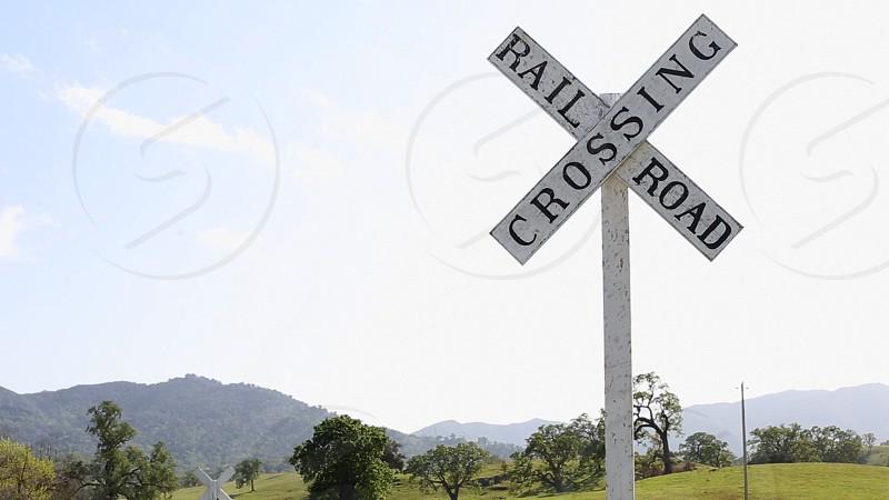 rail road crossing signage photo