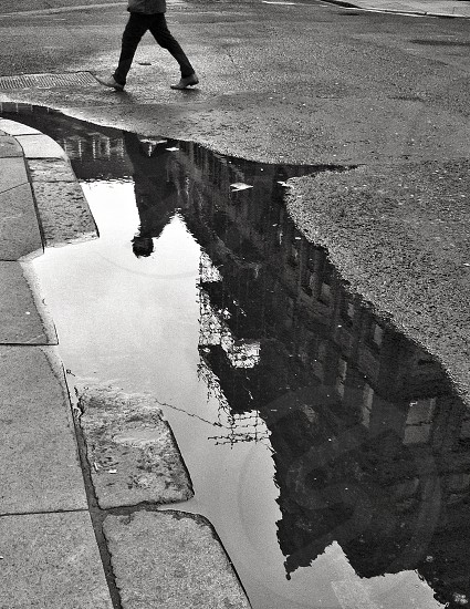 Glasgow street reflection.  photo