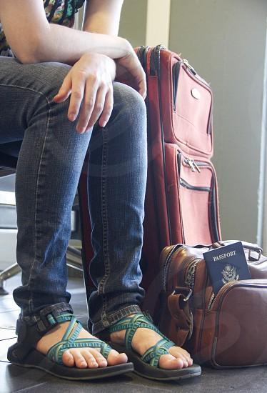 Travel preparations... peoplewaitingluggage bags  photo