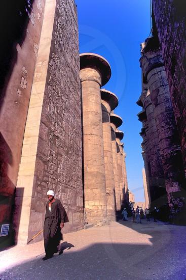 The Temple in Karnak Egypt. photo