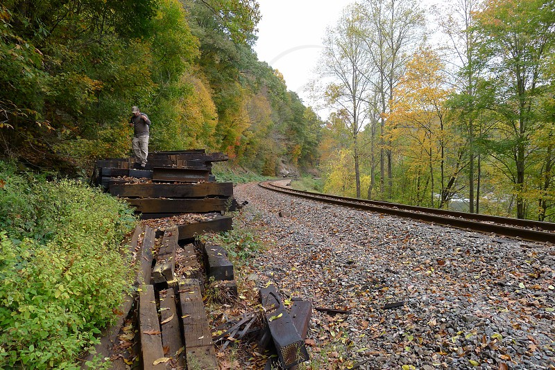 railroad tracks photo